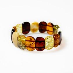 Natural amber bracelet multi-color