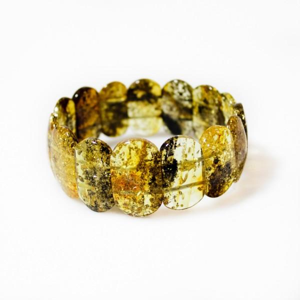 Bracelet d'ambre vert véritable