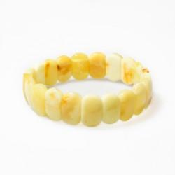 Bracelet d'ambre royal de couleur blanche