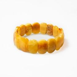 Opaque yellow amber bracelet