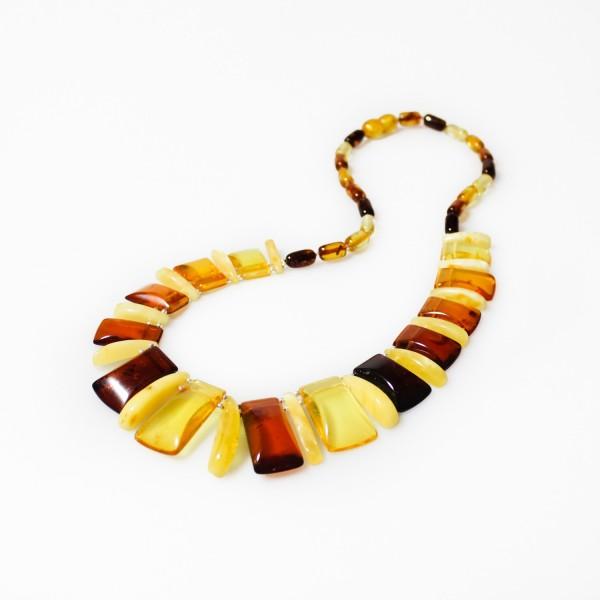 Collier d'ambre tout ambre multicolore style Egyptien