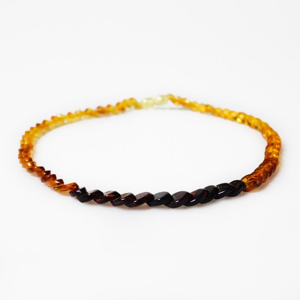 Collier d 39 ambre arc en ciel adulte pierre losange - Bracelet arc en ciel ...