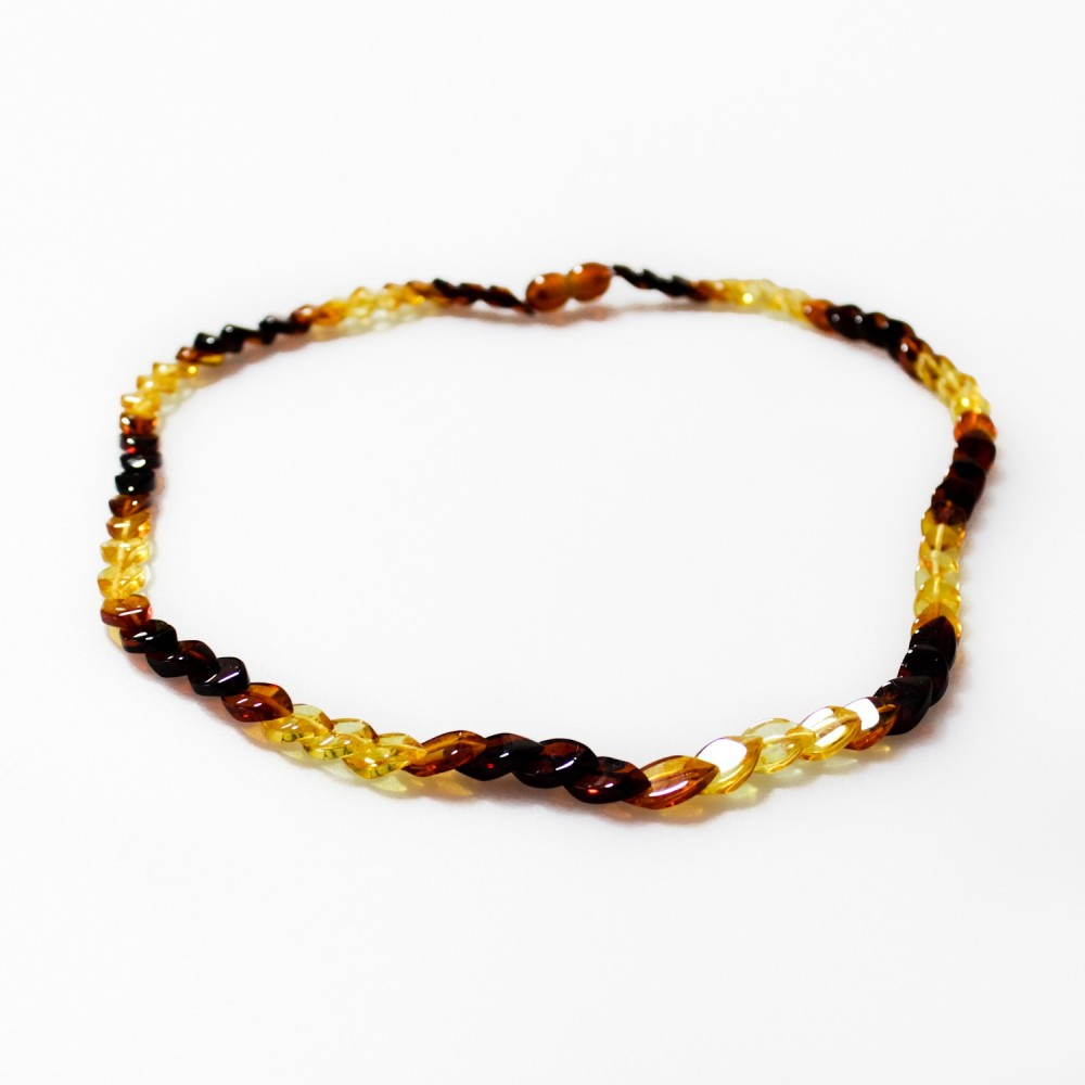 Collier en ambre arc en ciel adulte pierre en forme d - Bracelet arc en ciel ...