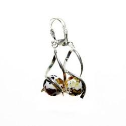 amber mosaic earring