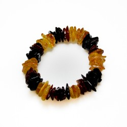 Bracelet all amber multicolor baroque style
