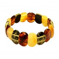 Bracelet ambre bébé perle ronde multicolore