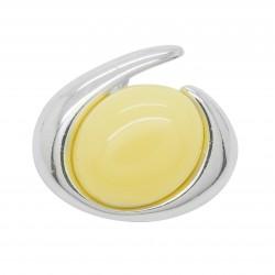 Pendentif en ambre et Argent circulaire