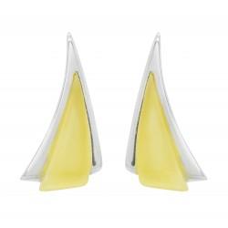 Ohrri Bernstein und Silber Dreiecksform