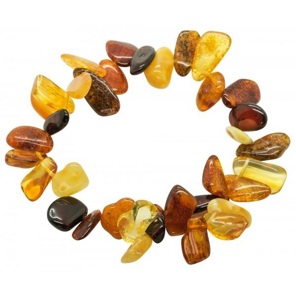 Bracelet d'ambre adulte multicolore - pétales