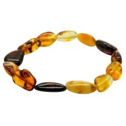 Bracelet d'ambre multicouleur forme naturel