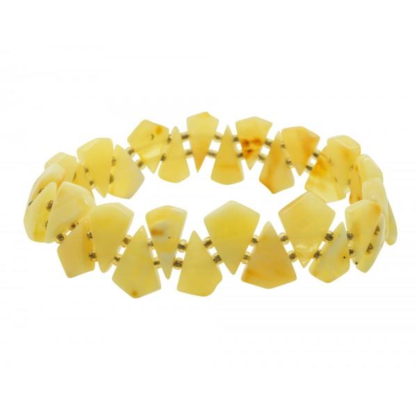 Bracelet femme tout ambre couleur blanc