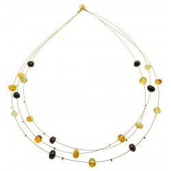 Collier d'ambre perle multicolore