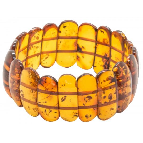 Bracelet d'ambre couleur cognac