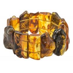 braccialetto multicolor ambra naturale
