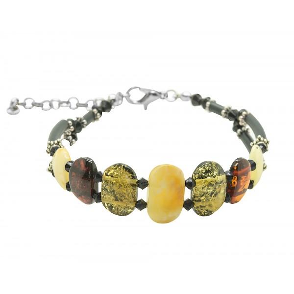 Bracelet d'ambre adulte multicolore