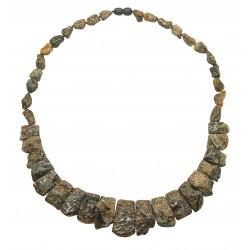 Unpolished raw amber necklace