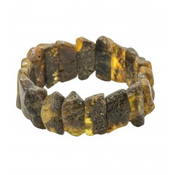 Unpolished raw amber bracelet