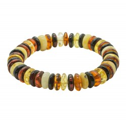 Multicolored amber bracelet, adult size