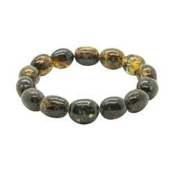 Green natural amber bracelet