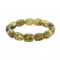 Bracelet d'ambre adulte vert