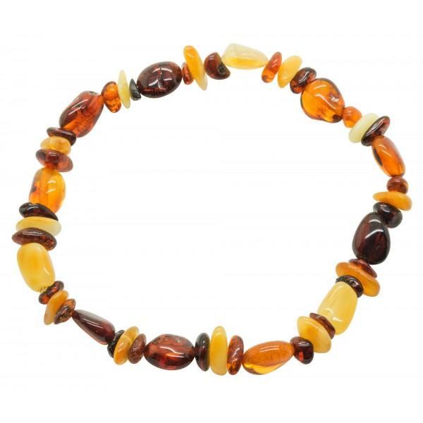 Bracelet adulte d'ambre multicolore