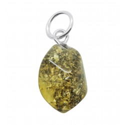 Small pendant in Baltic amber color green