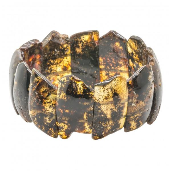 Gros bracelet en ambre vert brut