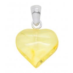 Small amber heart lemon color