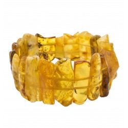 Big natural amber bracelet color MIEL