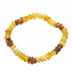Adult multicolored pearl amber bracelet