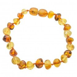 Adult multicolored pearl amber bracelet