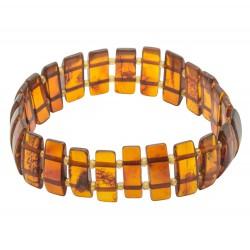 Armband Bernstein rechteckigen Stein Cognac für Erwachsene