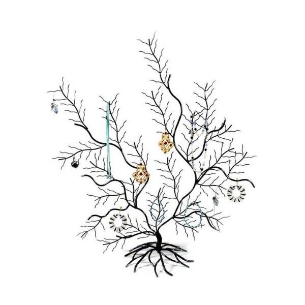 Joli arbre présentoir décoratif de mur porte bijoux, Noir