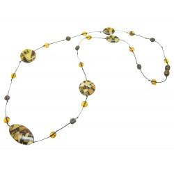 Erwachsener Bernstein Halskette mit Bernstein Steine Mosaik