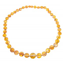 Cognac natural amber necklace