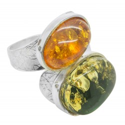 Multicolor ambre ring
