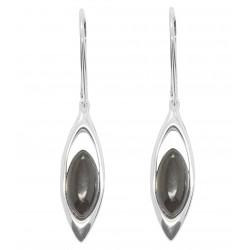 Natural Cherry and 925/1000 Silver Amber Earring