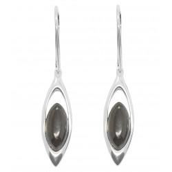 Ohrring Farbe natürliche Kirsche Bernstein und Silber 925/1000