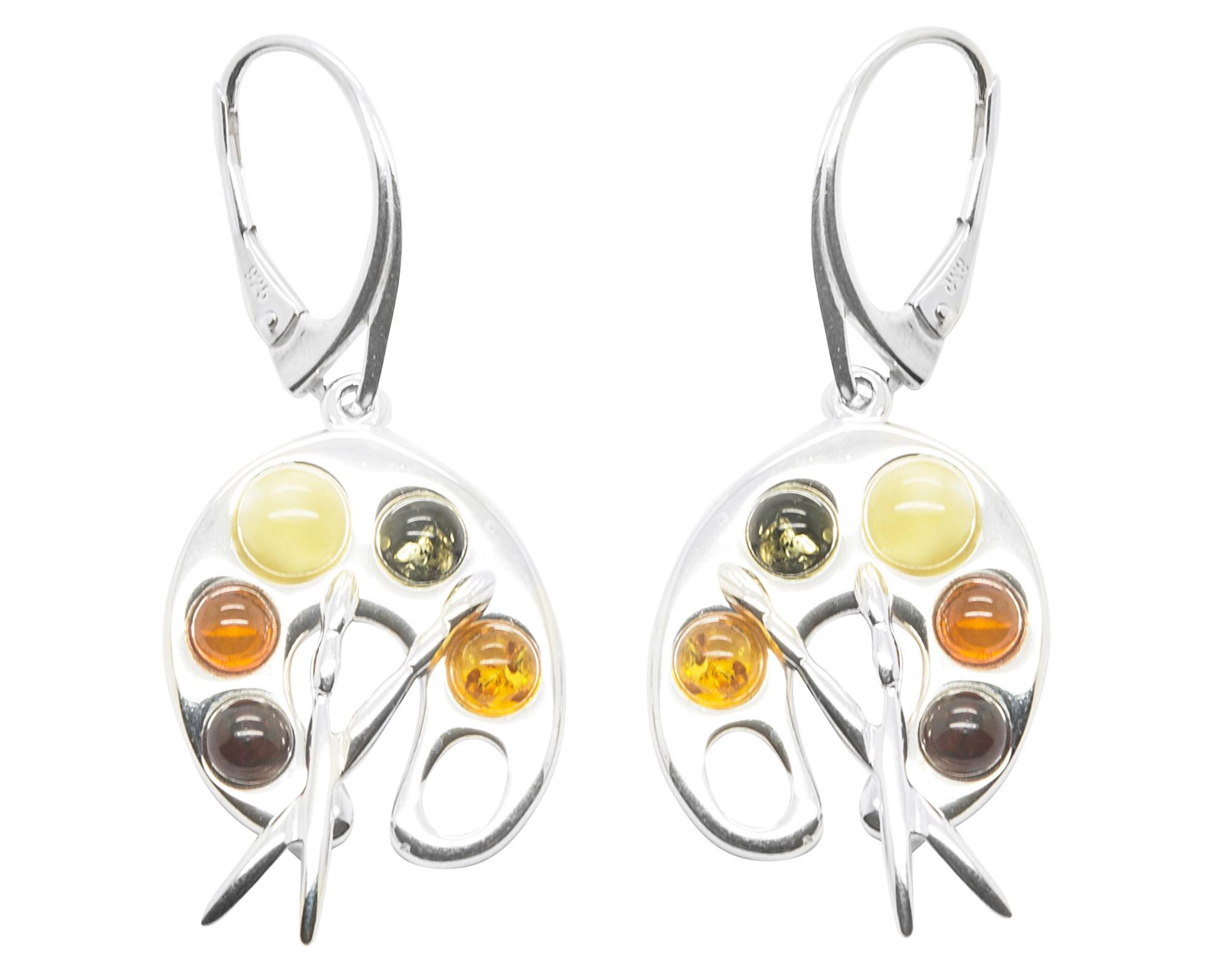 Boucle oreille ambre