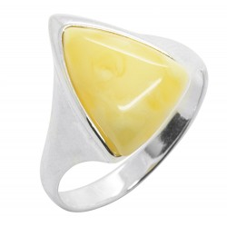 Ring in Amber Royal and Silver 925/1000 triangle shape