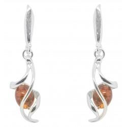 Silber-Ohrringe und Bernstein Verdreht