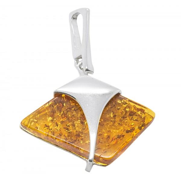 Pendentif en argent 925/1000 et ambre miel style Egyptien