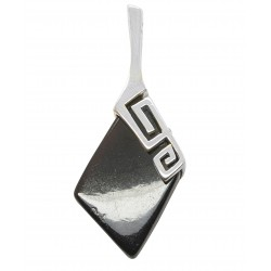 Cherry and silver pendant in greek / roman style