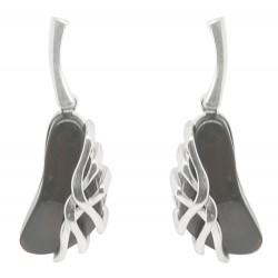 argento orecchio e ciliegia anello ambra