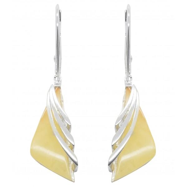 boucles d'oreilles ambre et argent