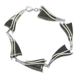 Armband Bernstein kirschrote Farbe und Silber 925/1000