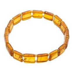 Bracelet en ambre adulte couleur miel