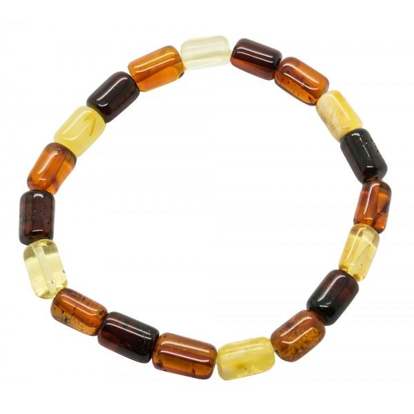 Bracelet ambre multicolore adulte
