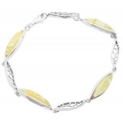 bracelet argent et ambre royal