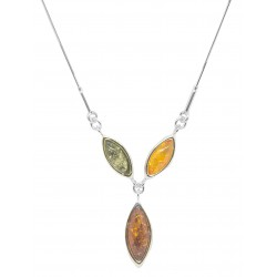 Amber Pearl Necklace and Infinity Silver- Multicolored